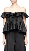 Tome Ruffle taffeta twill off-shoulder top