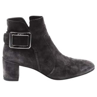 Roger Vivier Grey Suede Boots