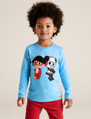 Marks and Spencer Pure Cotton Ryan's World Top (2-7 Yrs)