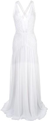 Tadashi Shoji Plunge Lace Evening Dress