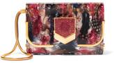 Jimmy Choo Lockett Small Swarovski Crystal-embellished Printed Acrylic Clutch - Red