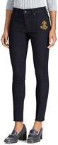 Lauren Ralph Lauren Frayed Skinny Jeans in Midnight Haze Wash