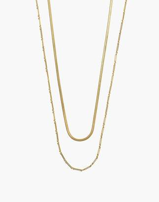 Madewell Herringbone Chain Mix Necklace Set