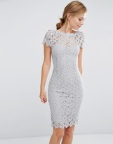 Paper Dolls Allover Lace Dress With Cap Sleeve