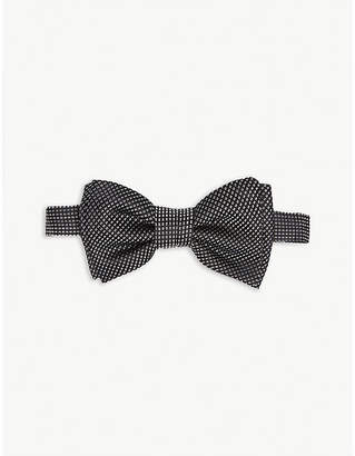 BOSS Printed jacquard silk bow tie
