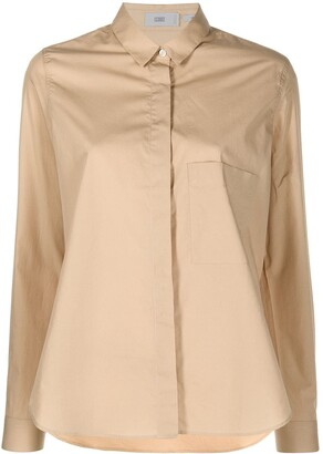 Closed Concealed-Fastening Cotton Shirt