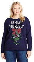 Just My Size Women's Plus Ugly Christmas Sweatshirt