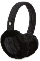 UGG Wired Cable-Knit Crochet Earmuffs, Black