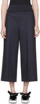 Cédric Charlier Navy Wide-leg Trousers