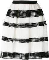 MICHAEL Michael Kors striped lace pleated skirt