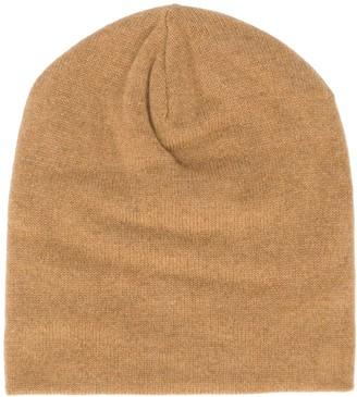 Ma Ry Ya Fine Ribbed Knit Beanie Hat