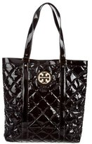 Tory Burch Quilted Patent Leather Tote