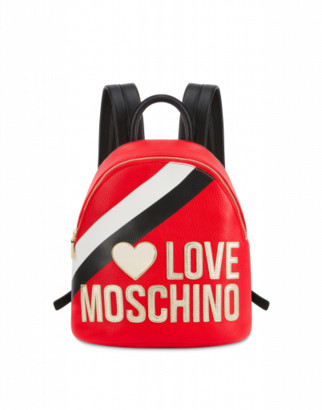 Love Moschino Backpack Sporty Logo Woman Red Size U It - (one Size Us)
