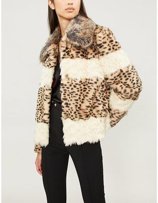 Pinko Falcione leopard-print faux-fur jacket