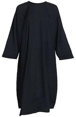Issey Miyake Tectorum Asymmetric Shift Dress