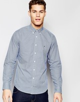 Tommy Hilfiger Gingham Shirt In New York Regular Fit In Blue