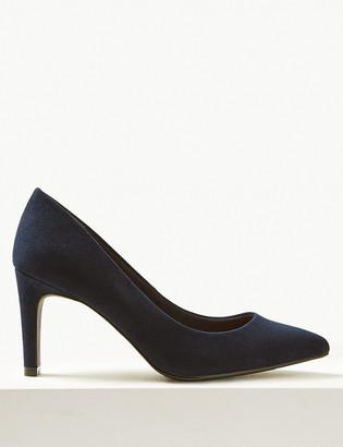 Marks and Spencer Wide Fit Stiletto Heel Pointed Court Shoes
