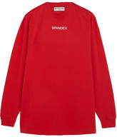 Balenciaga Oversized Printed Stretch-cotton Jersey Sweatshirt - Red