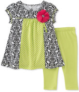 Kids Headquarters 2-Pc. Toile Tunic & Capri Leggings Set, Toddler & Little Girls (2T-6X)