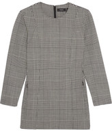 Theory Laurent Prince Of Wales Checked Stretch-wool Top - Gray