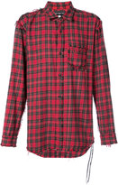 Mastermind Japan oversized checked shirt