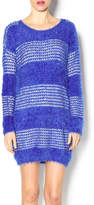 Umgee USA Fuzzy Stripped Sweater Dress
