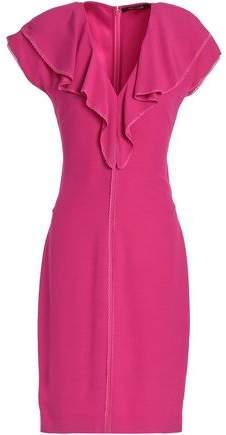 Roberto Cavalli Ruffle-trimmed Satin-crepe Dress
