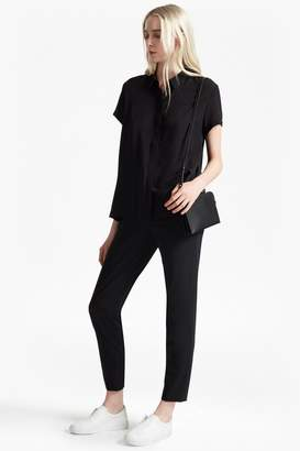 French Connection Classic Crepe Pleated Back Shirt