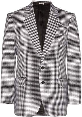 Alexander McQueen single-breasted houndstooth blazer