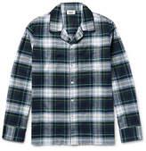 Sleepy Jones - Henry Checked Cotton-flannel Pyjama Shirt