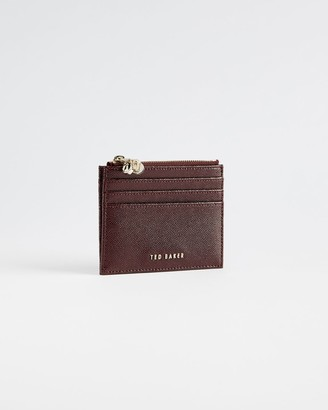 Ted Baker Leather Multi Charm Zip Up Card Wallet