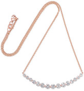 Anita Ko Large Crescent 18-karat Rose Gold Diamond Necklace - one size