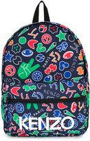 Kenzo symbols printed backpack