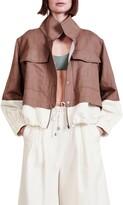 Thumbnail for your product : Apiece Apart Selva Crop Linen & Cotton Windbreaker