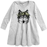 Urban Smalls Light Heather Gray Wolf A-Line Dress - Toddler & Girls