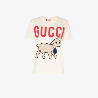 Gucci lamb print cotton T-shirt