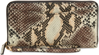 Nordstrom Snakeskin Print Leather Continental Wallet