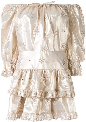 Alice McCall Electric Galaxy ruffled mini dress