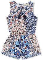 Copper Key Little Girls 4-6X Floral-Print Crochet Romper