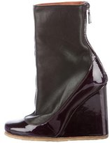 Lanvin Round-Toe Wedge Ankle Boots
