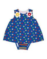 Florence Eiseman Striped Bodysuit w/ Lifesaver Dress Overlay, Size 3-12 Months