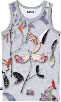 Molo Grey Paper Petals Patterned Tank Top