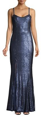 Dress the Population Ingrid Sequin Trumpet Gown