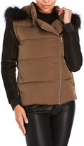 Maje Glace Real Fur Trim Padded Down Jacket
