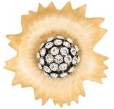 Alexis Bittar Lucite & Crystal Floral Brooch
