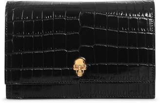 Alexander McQueen Black mini skull bag