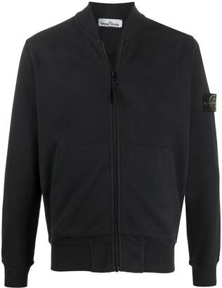 Stone Island Zip-Up Cotton Sweatshirt