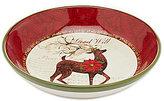 """Certified International Winter Garden 13"""" Reindeer Shallow Serving Bowl"""
