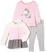 Kids Headquarters Pink & Gray Color Block Jacket Set - Infant & Toddler