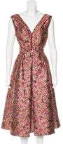 Prada 2016 Metallic Jacquard Dress
